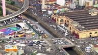 Trânsito está complicado na Av. do Estado, perto do Mercadão