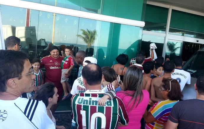 Torcida Treino Fluminense  (Foto: Pedro Venâncio)
