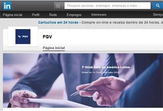 FGV é a marca mais influentes no Brasil entre os usuários do Linkedin (Foto: Reprodução)