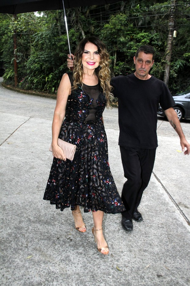 Elba Ramalho em casamento de Jayme Matarazzo e Luiza Tellechea  (Foto: Marcos Ferreira / Brazil News)