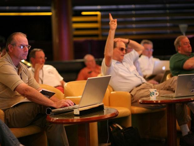 Participantes do cruzeiro MacMania, voltado para fãs da Apple (Foto: Insight Cruises/Divulgação)