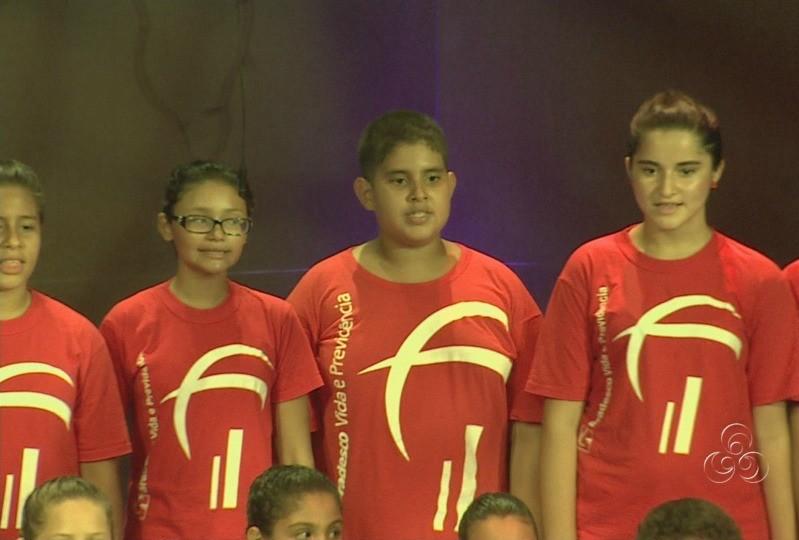 Corais reuniram jovens de diversas instituições de ensino (Foto: Amazônia TV)