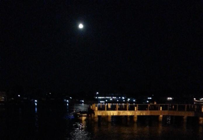 Foto da lua feita com a câmera do Galaxy Note 2 (Foto: Claudia Bozza/TechTudo)