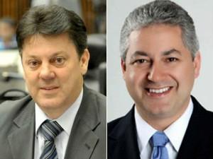 Nelson Luersen (PDT) e Douglas Fabrício (MD) são respectivamente o presidente e o relator da CPI do Pedágio (Foto: Divulgação/Alep)