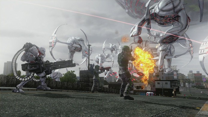 As batalhas épicas de EDF não podem ser encontradas em masi nenhum jogo (Foto: destructoid.com)