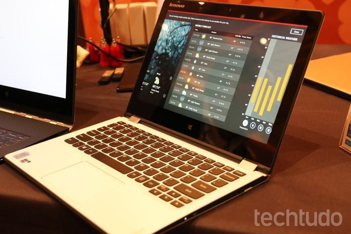 Yoga 3 ganhou novos tamanhos e funcionalidades  (Foto: Isadora Díaz/TechTudo)