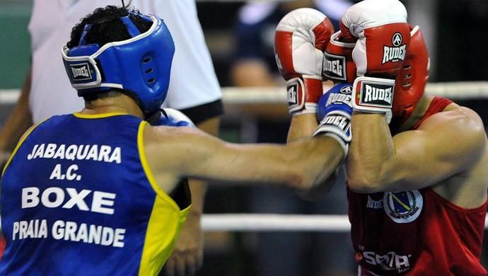 Lutador de boxe, Praia Grande (Foto: Divulgação / Prefeitura Municipal de Praia Grande)