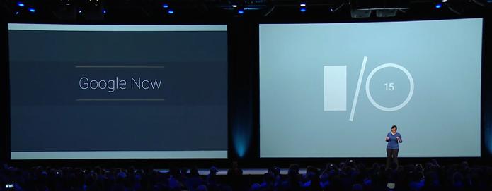 Novo Google Now é apresentado no Google I/O 2015 (Foto: Reprodução/Google)