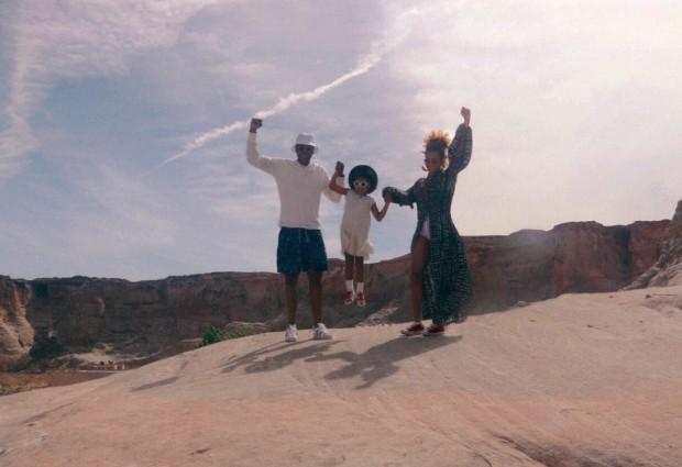 Jay Z, Blue Ivy Carter e Beyoncé (Foto: Divulgação)