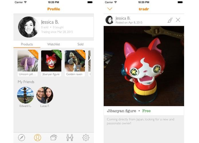 Qualquer usuário tem perfil próprio e pode comprar e vender no app (Foto: Divulgação)