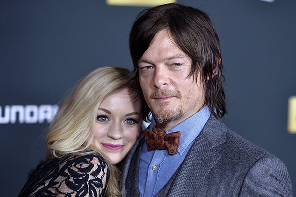 Emily Kinney e Norman Reedus (Foto: Getty Images)