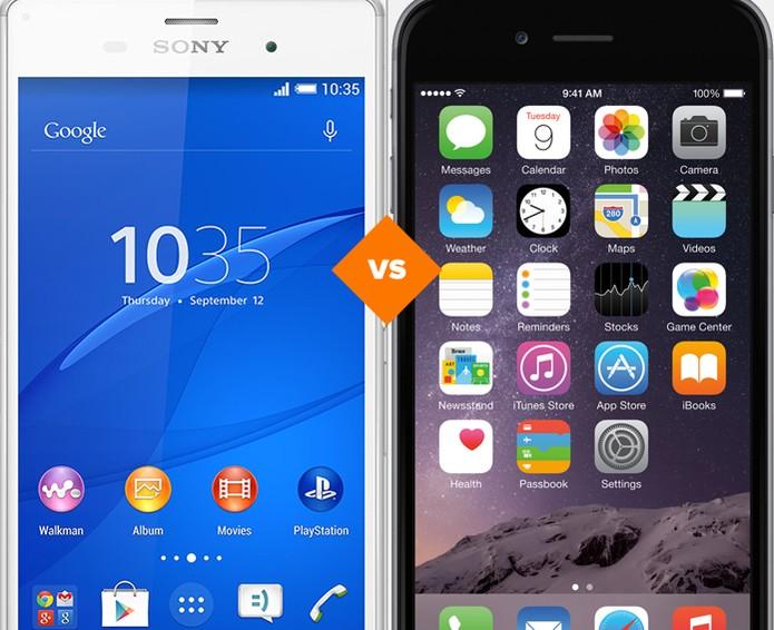 iPhone 6 ou Xperia Z3? Veja qual é o melhor smart (Foto: Arte/TechTudo)