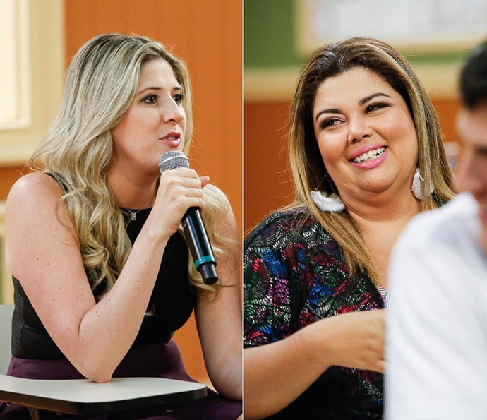 Dani Calabresa e Fabiana Karla no lançamento da segunda temporada da Escolinha (Foto: Raphael Dias/Gshow)