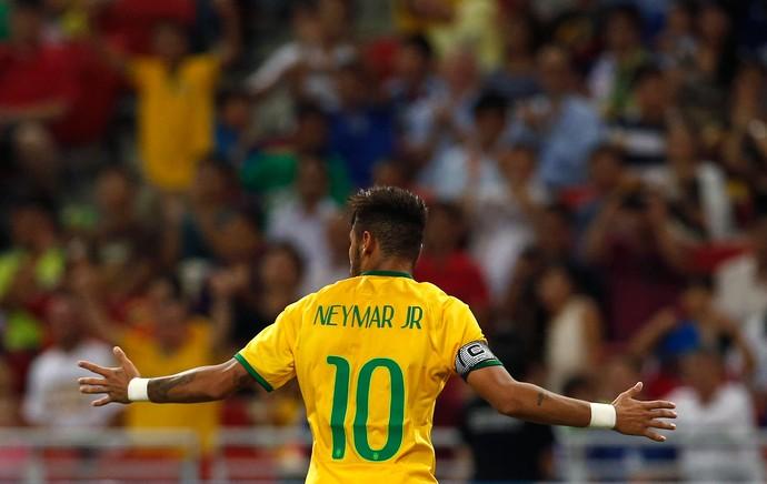 neymar gol Brasil x Japão (Foto: Reuters)