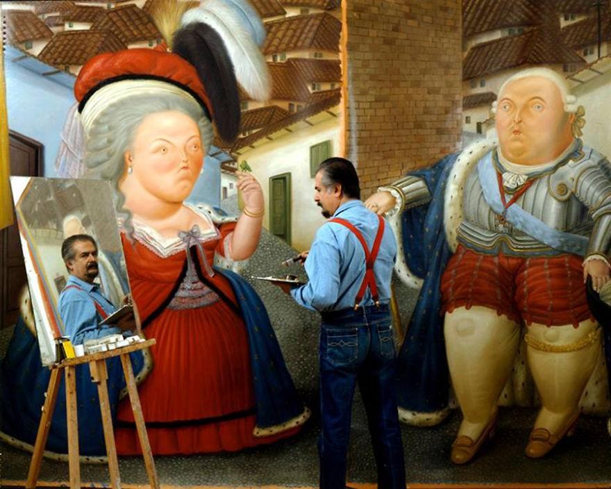 Bela imagem do estúdio do pintor colombiano Fernando Botero. (Foto: Reprodução)