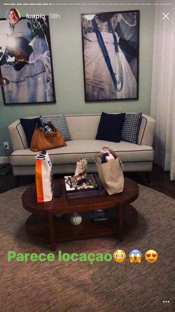Sala da suite (Foto: Reprodução Instagram)