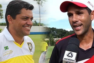 Técnicos Claudio Roberto e Chiquinho Lima (Foto: Reprodução/TV Morena)