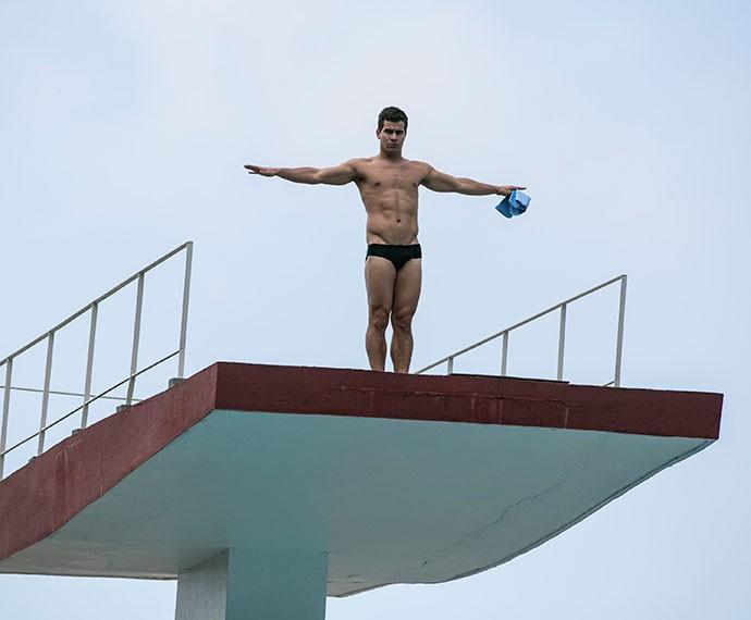 Diogo participa de competição internacional e salta em grande estilo (Foto: Inácio Moraes/Gshow)