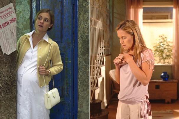 Adriana Esteves viveu a jovem Nazaré Tedesco em Senhora do Destino (2004), e Heloísa, em A Lua me Disse (2005)  (Foto: CEDOC Globo)