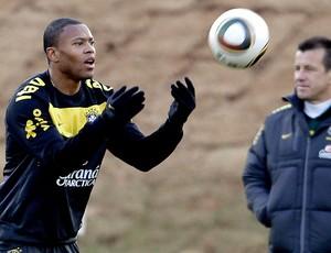 Julio Baptista treino seleção brasileira (Foto: Reuters)