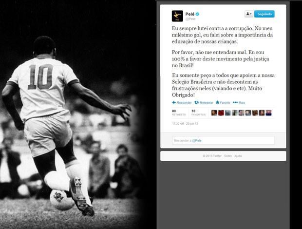Reprodução Twitter Pelé mensagens (Foto: Reprodução / Twitter)