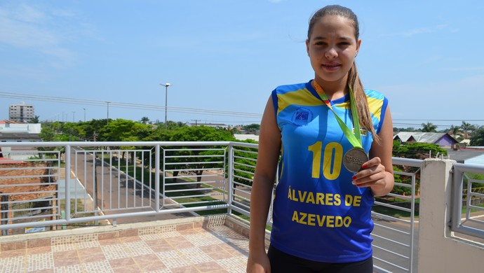 Alinne Nair é destaque rondoniense no vôlei nacional (Foto: Alinne Nair/Arquivo Pessoal)
