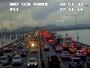 Rio - 18h45: Ponte Rio-Niterói tem lentidão nos dois sentidos