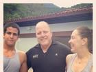 Filho de Claudia Raia e Celulari, Enzo posta foto com a mãe na academia