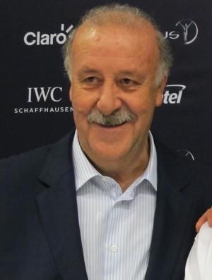 Vicente Del Bosque em coletiva do Laureus (Foto: Cahê Mota)
