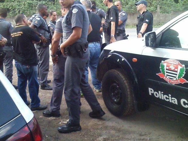 Homem foi sequestrado em São Vicente e levado para cativeiro em Cubatão (Foto: G1)