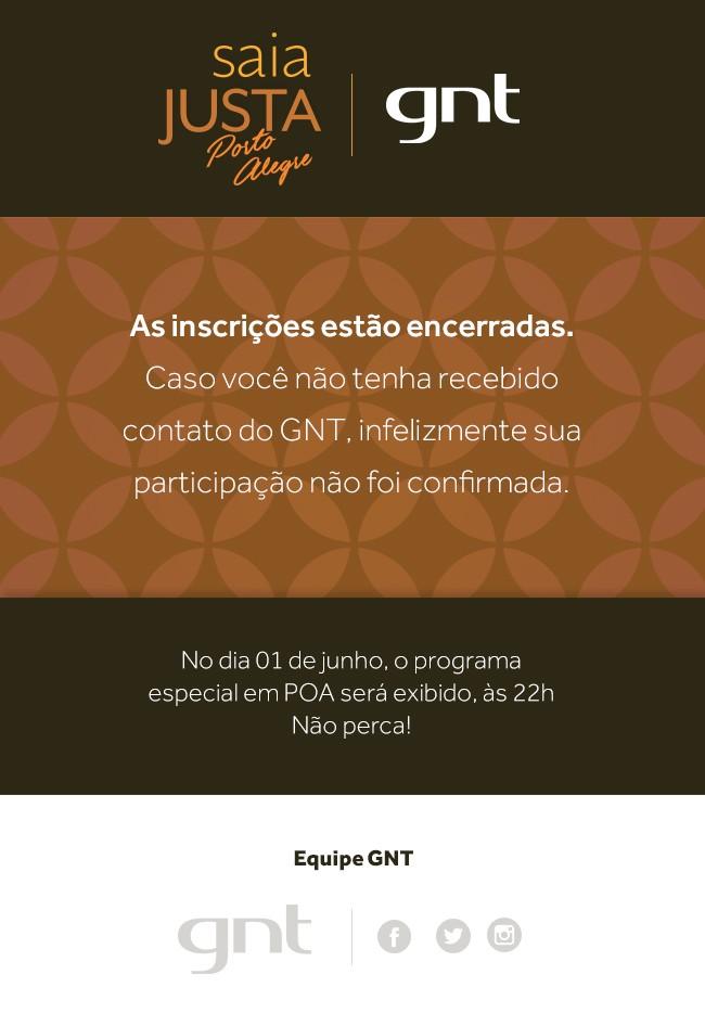 Inscries encerradas no Saia Justa Por A (Foto: GNT)