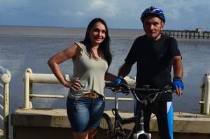 Ciclista do Pará de 70 anos participará pela 1ª vez da Antônio Assmar, no AP (Foto: Rafael Moreira/GE-AP)