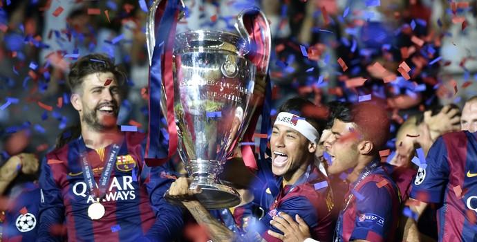 Neymar champions Barcelona  x Juventus  (Foto: AP)