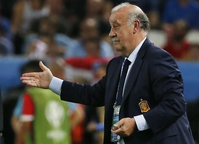 Del Bosque Croácia x Espanha (Foto: Reuters)