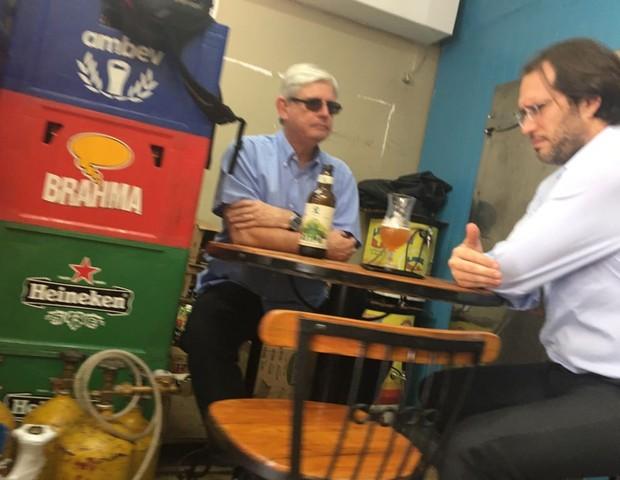 O procurador-geral da República, Rodrigo Janot, e o advogado  Pierpaolo Bottini (Foto: Reprodução/twitter)
