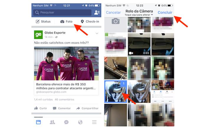 Carregando uma foto para marcar amigos no Facebook pelo celular (Foto: Reprodução/Marvin Costa) (Foto: Carregando uma foto para marcar amigos no Facebook pelo celular (Foto: Reprodução/Marvin Costa))