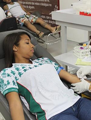Júlia Neves, doadora palmeirense editada (Foto: Wenner Tito)