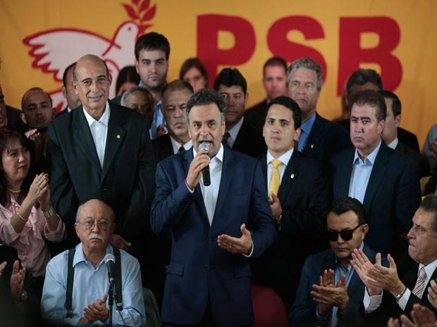 * Quatro partidos aderem à candidatura de Aécio Neves no segundo turno.