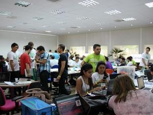 Startup Weekend teve 140 participantes e 16 ideias diferentes de negócio para a área mobile (Foto: Indiara Bessa/G1 AM)