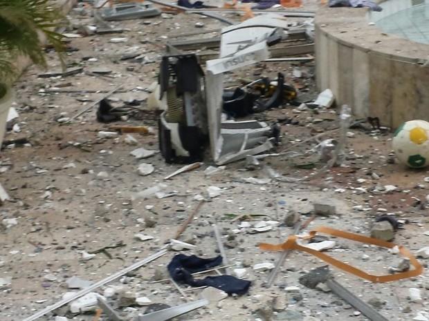 Imagens feitas por moradores mostram destruição de explosão (Foto: Mariana Ruopp/Arquivo Pessoal)