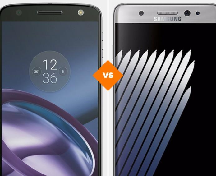 Moto Z ou Galaxy Note 7: descubra qual celular tem melhor ficha técnica (Foto: Arte/TechTudo)