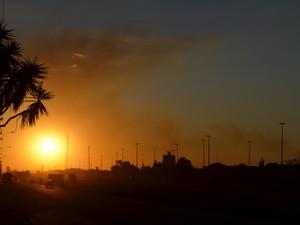 Dia ensolarado em todo o Cone Sul de RO, neste sábado,8 (Foto: Dennis Weber/G1)