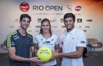 """Bellucci brinca com quatro jogadores do Top 15 no Rio Open: """"Já chega, né?"""""""
