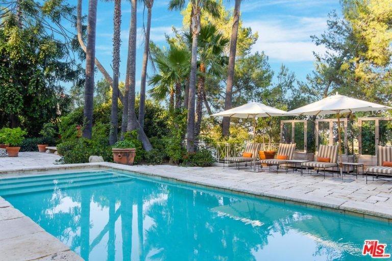 Piscina da mansão de Katy Perry em Hollywood Hills (Foto: Divulgação / Trulia)