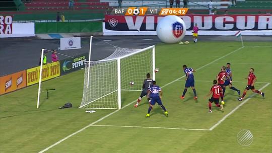 Auxiliar de partida entre Bahia de Feira e Vitória é suspenso pela FBF