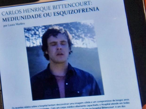 Título da matéria assinada por Laura deixa o médico perplexo (Foto: TV Globo)