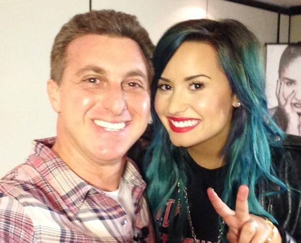 Luciano Huck e Demi Lovato em São Paulo (Foto: Arquivo Pessal)