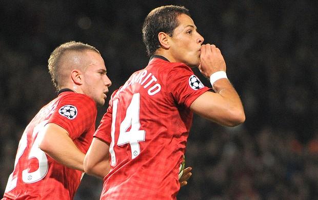 Hernandez, Manchester United e Braga (Foto: Agência AFP)