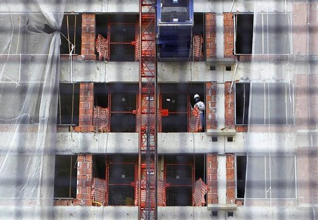 Construção civil ; operário ; infraestrutura ; PIB do Brasil ; emprego ; produção industrial ;  (Foto: Ueslei Marcelino/Reuters)