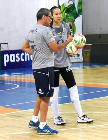 Vôlei Bauru, Ana Tiemi, Chico dos Santos (Foto: Fábio Barbosa / Vôlei Bauru)